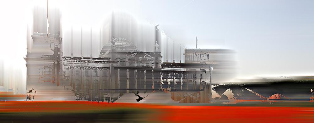 Berliner Reichstagsgebäude Südansicht Eingangsportal - © Sabine Wild